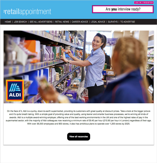 The Retail Appointment - ALDI