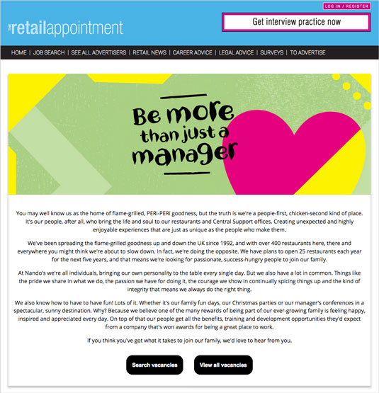 The Retail Appointment - Nandos